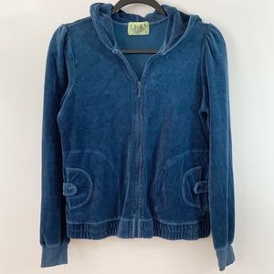 Juicy Couture . Full Zip Velour Jacket . L